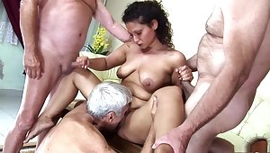 Incredible pornstar in horny mature, gangbang xxx video