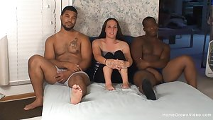 Mature filmed undeviatingly dealing two BBCs in hardcore