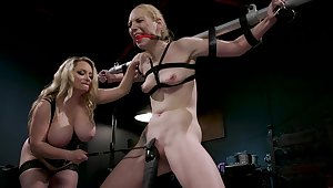 BDSM femdom special wide Delirious Hunter and Aiden Starr