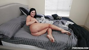Chunky ass brunette gets full in classic POV scenes
