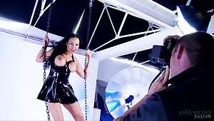 Erotic fucking with MILF pornstar Rio Lee give latex outfit