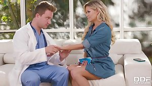 Jessa Rhodes hot MILF amazing sex with doctor