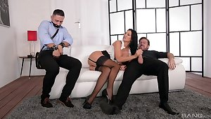 Handsome get hitched Jasmine Jae gets ass fucked by by two guys - Cuckold